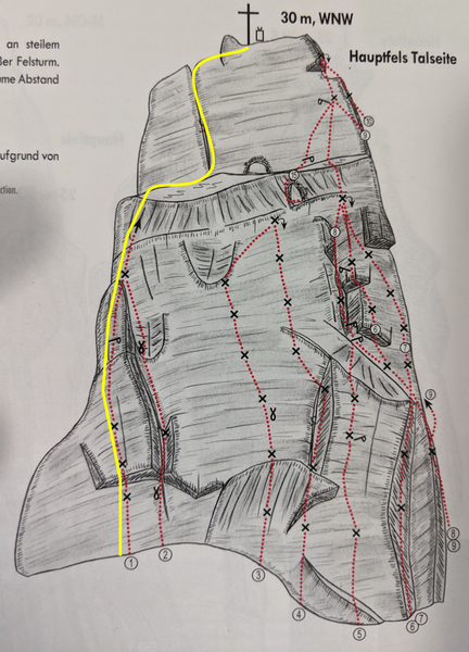 Left most route on Tower