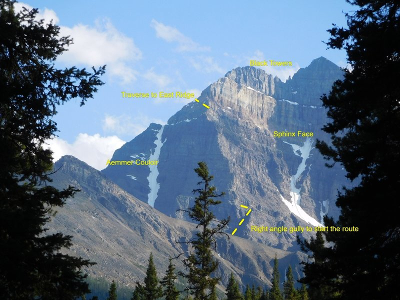 Squashed Bones, the NE Buttress of the North Face of Mt. Temple