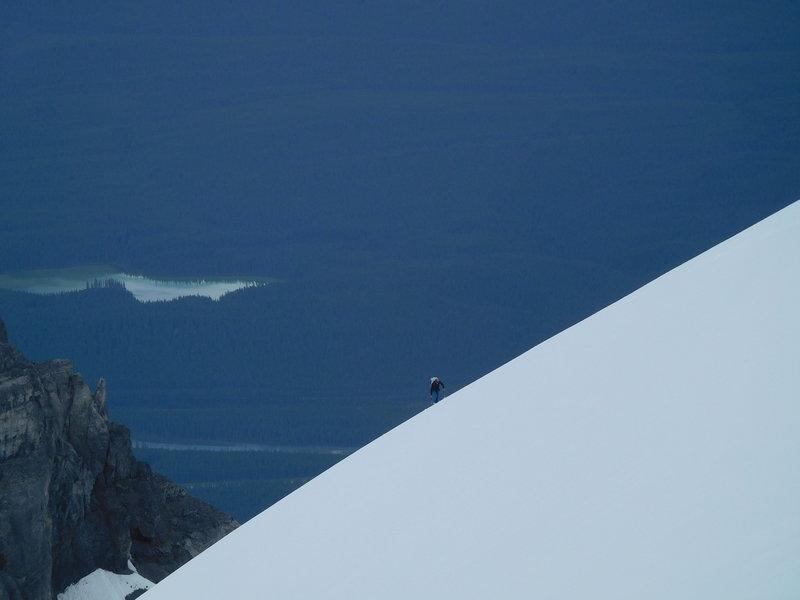 Dave climbing the summit ice cap