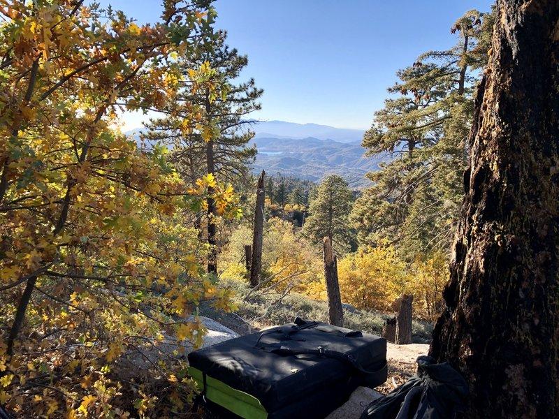 Beautiful fall bouldering at GVL.