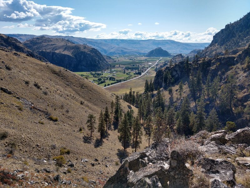 Looking down Milkweed Canyon