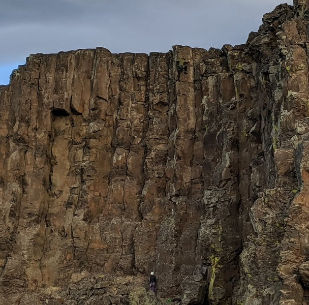 Jorge on the second ascent