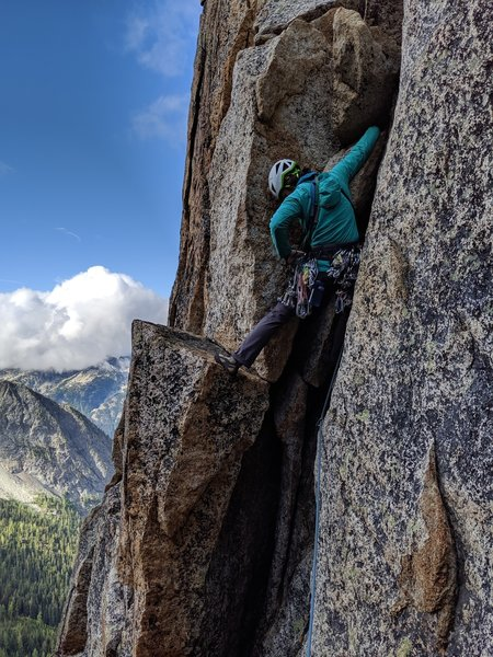 Pitch 2 of the Beckey Route