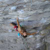 Copping a shake in the flowy, pleasant intro of Pod (13b). <br> <br> Climber: @dirtysouthclimber<br> Photo: @houndsgrin