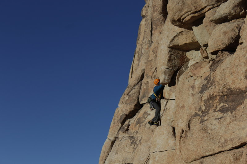 Klein VerHill's first fully trad lead!