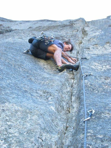 Mike Carville working pitch 3 of SuperBanzai