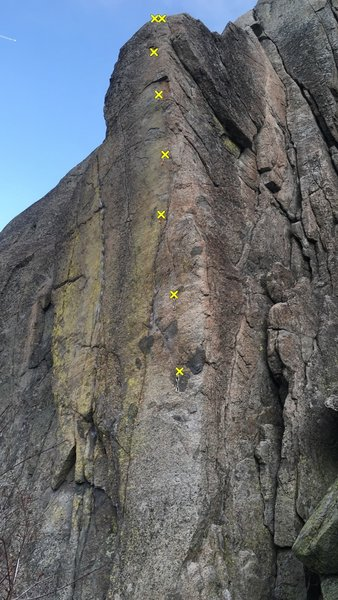 'aerial' at the snowshed wall at old donner summit