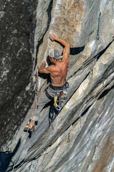 Wes on the crux of Cookie Mix