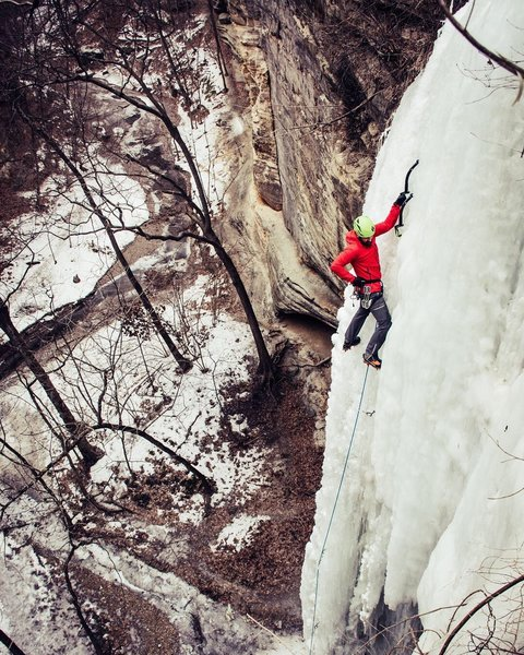 That mythical route up the left side of Tonti Canyon. John Morris photo