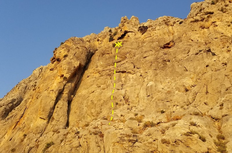 Il Posto enjoys a funky start that leads into nice face climbing.