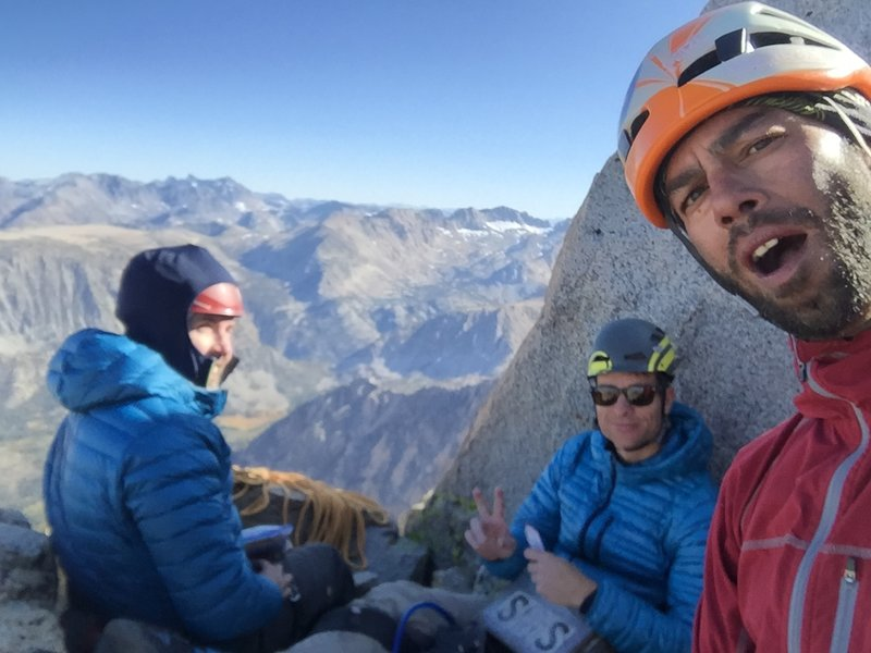 Jeff, Matt and I on the summit of Emerson on a Cold October day!