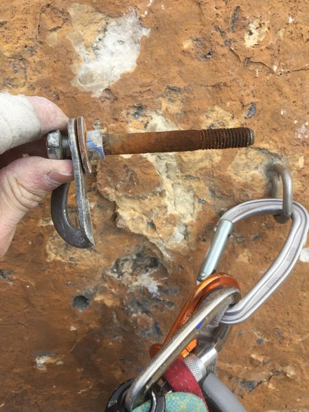 The 30 year old crux bolt