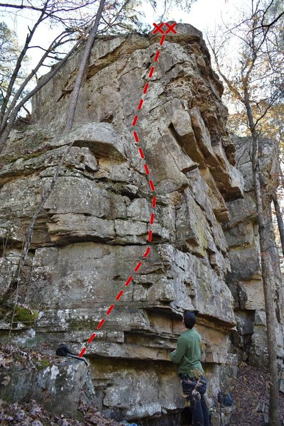 Chunky bolted arete