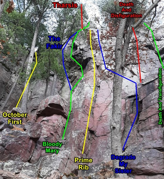 Left-most section of Pseudo Hawk's Nest.