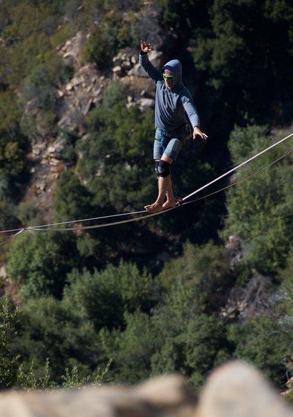 High-lining at Gibraltar Rock.<br> photo: ab