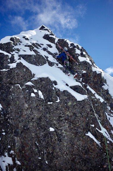 Mixed step on Ne Slab/ North Ridge of the tooth 3/2/2019