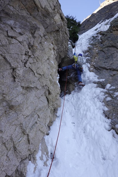 Starting route under early season conditions (Nov2019) Wayne Wallace pic