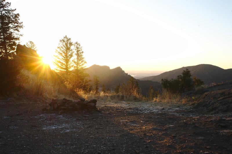 Breathtaking sunrise at The Monastery parking.