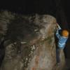 Kyle Love night climbing The Transverse (v1)