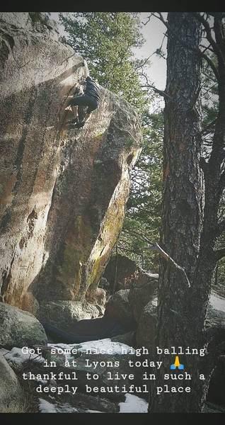 My favorite boulder problem in CO so far!