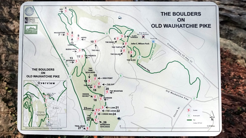 Area Map of Boulders