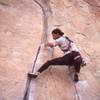 Caunt on OKelly's Crack, (yah he does crack climbs once in a while)