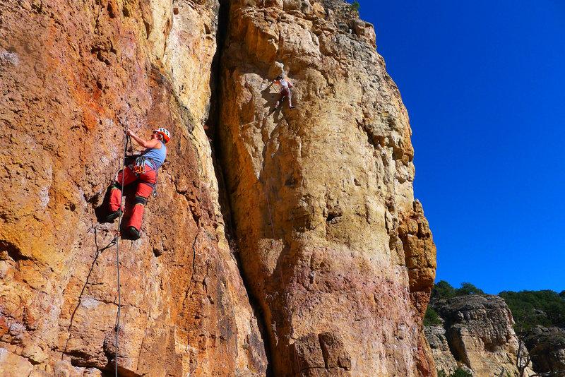 Climber on Lefty.