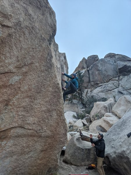 Crux is near the top