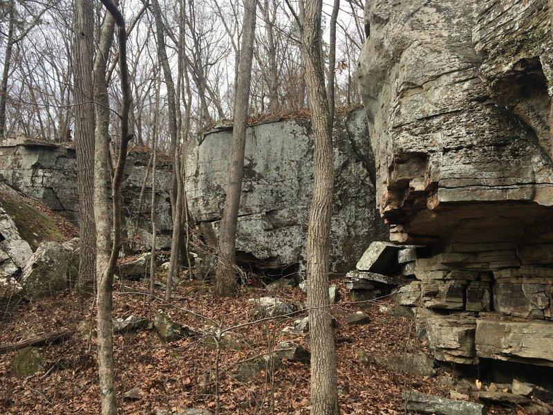 Fresh boulders