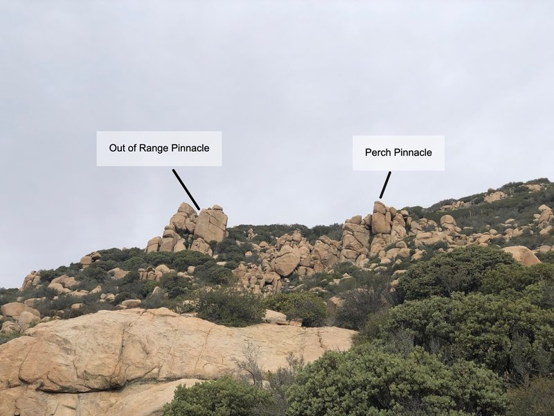 Out of Range and Perch Pinnacles.