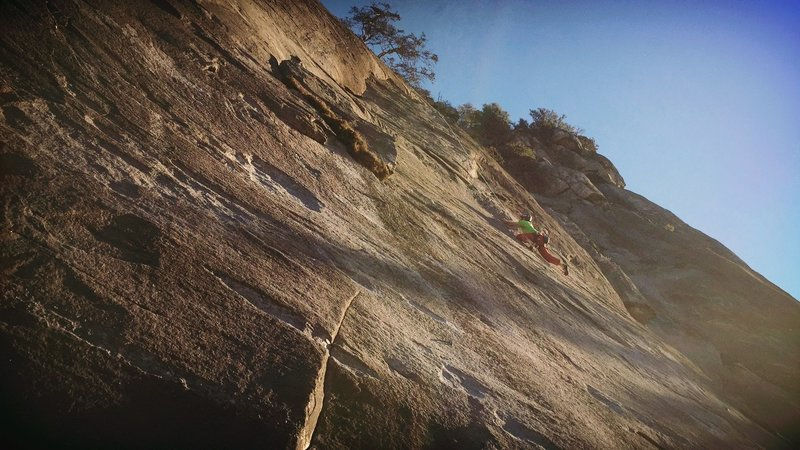 Nearing the 1st crux