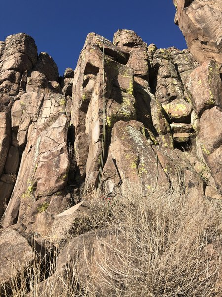 A good view of this short climb.