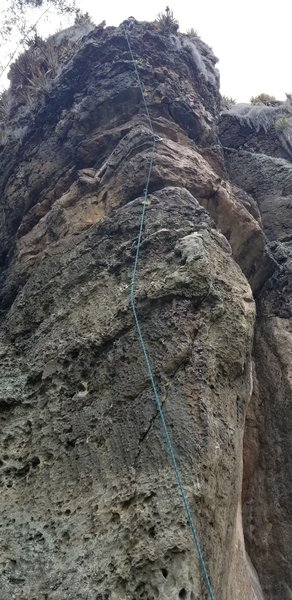 Unknown face climb left of Learning to Clip