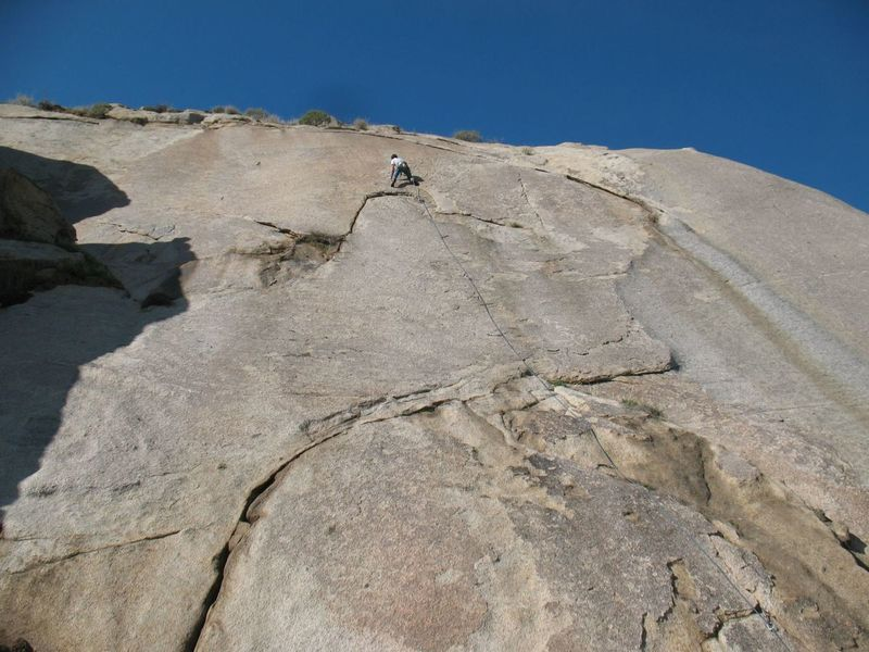 The long and excellent Bloody L (5.7), Big Rock Area