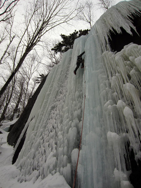 Fat ice at Brimstone; this flow is obvious and directly across from Angel Falls