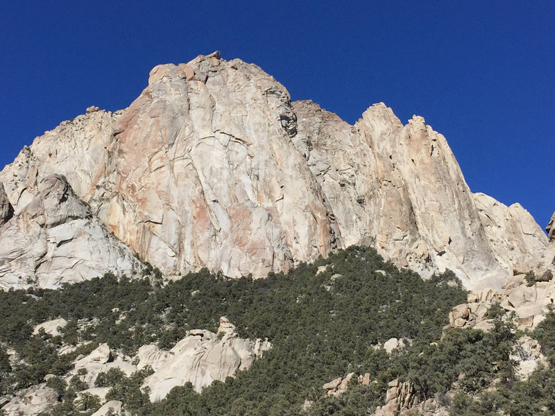 The largest and most impressive of the formations. I believe this is the formation being called the Toiyabe Fitzroy, which I think is a killer name for a crag!