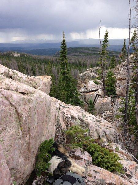 Looking south from Phantom Ridge summit.