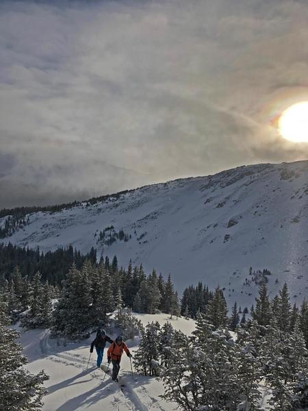 On Dawn Patrol in Colorado.  Photo by Jon Krakauer