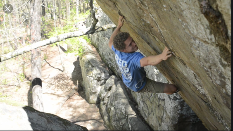 Photo Credit: Cory Brewer<br> Climber: Carson Taylor