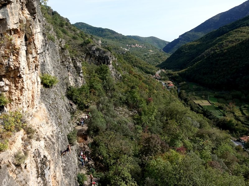View from top of Telematica looking down the valley