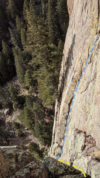 The third pitch of Lost in Space (yellow) and Sunstar (blue) where they split.