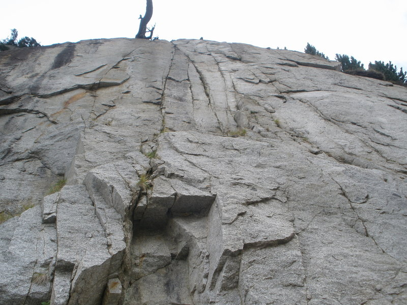 Photo 1 - Looking up at the white slab