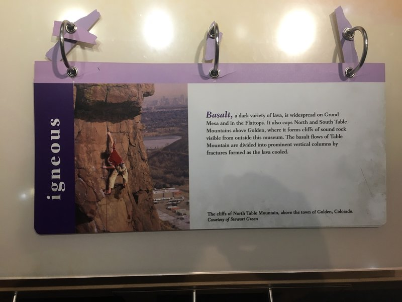 A featured route in the American Mountaineering museum.