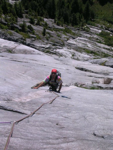 Gleaming white granite on pitch 16