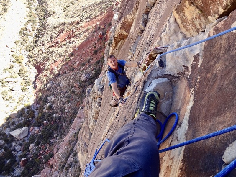 Amazing crack climbing at it's best