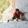 My climbing partner since Junior High Mike Flood topping out on the Open Book