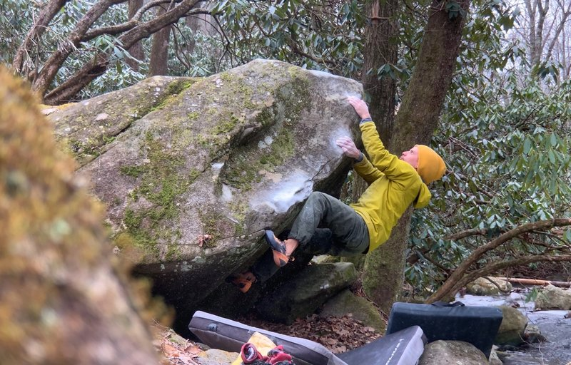 Fun slopers on a short arete