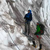 On belay in the Ice Chute!