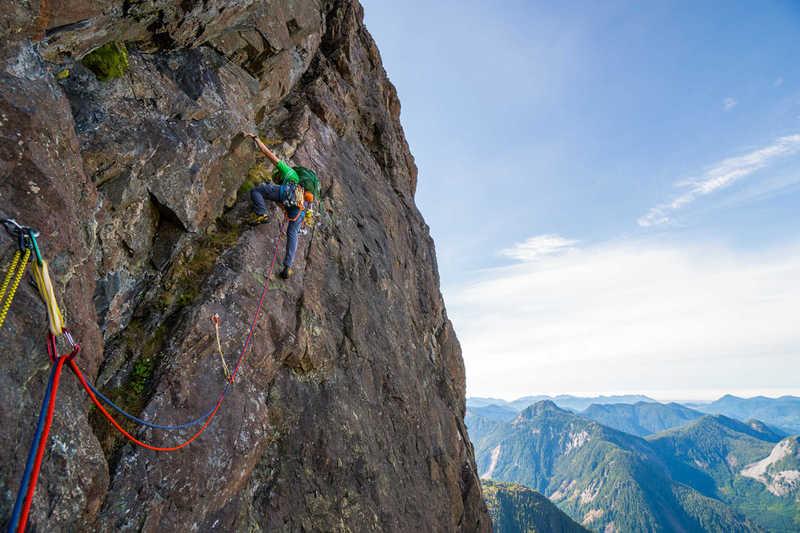 Kris climbing pitch 17