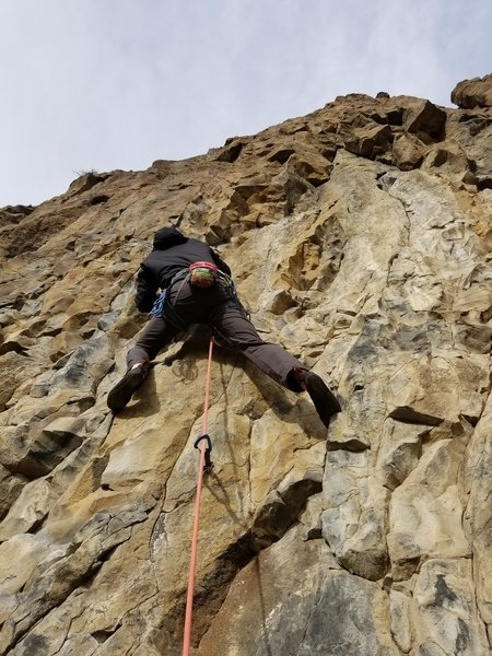The first few clips of Ten-A-Cee Waltz- Ben Fuesel at or around the .10c crux. Fun climb!